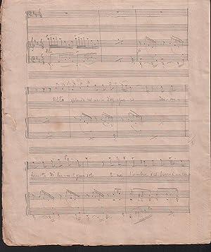 """Autograph manuscript of the song """"Meriggiata,"""": Leoncavallo, Ruggero (1857-1919) Italian ..."""