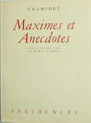 Maximes et Anecdotes. Avec une biographie par: Camus, Albert) ;