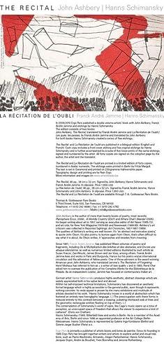 The Recital: Ashbery, John; Hanns Schimansky