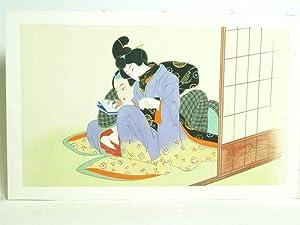 Shunga. Japanese album of erotic paintings