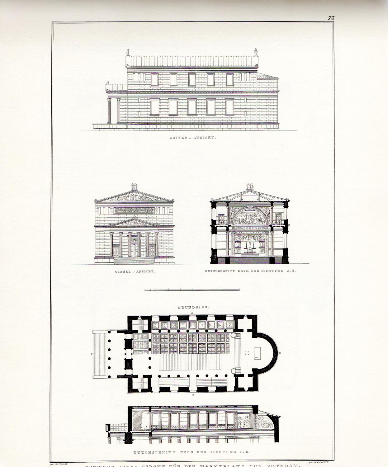 Fifty-four Plates & Text from the COLLECTION OF ARCHITECTURAL DESIGNS: Schinkel, Karl Friedrich...