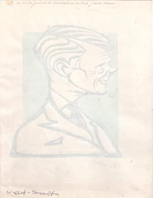 Edward the Eighth Duke of Windsor, King of England, Signed Caricature Portrait: Edward VIII (...