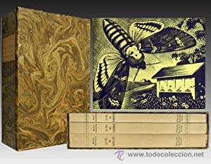 1943 - Edición Bibliofilo - HISTORIA NATURAL de Maeterlinck - 3 Tomos