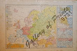Volkerkarte von Europa [Map of the Peoples of Europe] 1.) Sprachgebiet der Basken 2.) Sprachgebiet ...