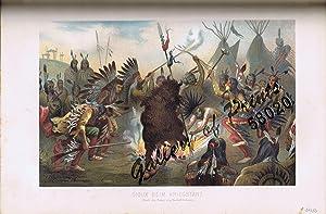 Sioux Beim Kriegstanz (Nach der Natur von Rudolf Cronau.) [War Dance]: Ratzel, Friedrich / Cronau, ...