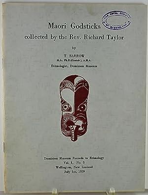 Maori Godsticks collected by the Rev. Richard: Barrow, T.
