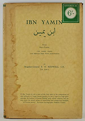 Ibn Yamin Persice Ibn-i-Yamin 100 Short Poems The Persian Text with Paraphrase 1st Edition