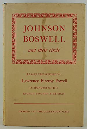 Johnson Boswell and their circle essays presented: Johnson, Samuel; Boswell,