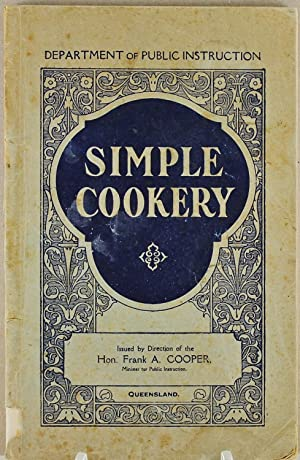 Simple Cookery Queensland Department of Public Instruction