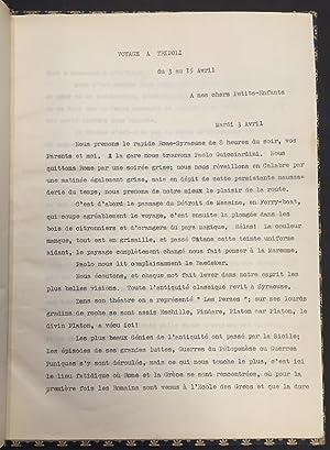 Voyage a Tripoli du 3 au 15 Avril 1934: Hortense Serristori