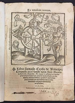 Libro llamado Cayda de Príncipes: Juan Boccaccio