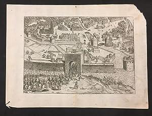 Grabado de Franz Hogenberg de la obra: Michael Attzinger. Franz