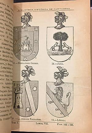 Biblioteca Histórica De Cartagena. Tomo I: Gregorio Vicent y Portillo