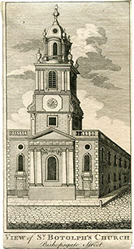 «View of St. Botolph's Church» grabado por John Cooke en 1770