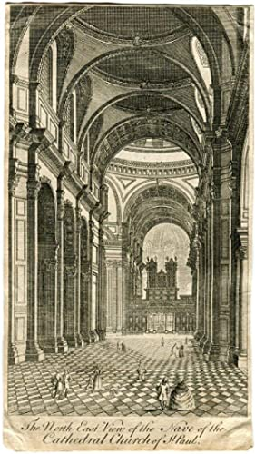 «The north east view of the nave of the Cathedral church of St. Paul» B. Winkles 1749