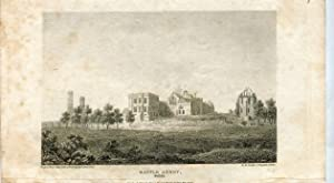 Grabado antiguo. Battle Abbey, Sussex. 1812 por White