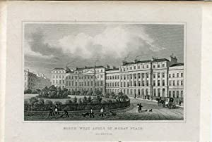 Escocia. North West Angle of Moray Place, Edinburgh, 1833