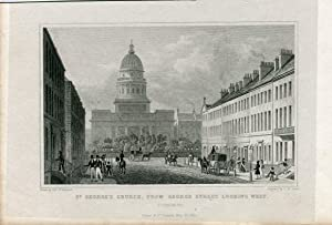 Escocia. St. George' s Church, from George St. looking west, 1833