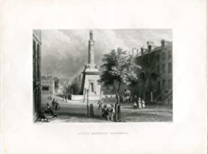 E.E.U.U. Battle monument, Baltimore grabado por H. Griffiths, 1840