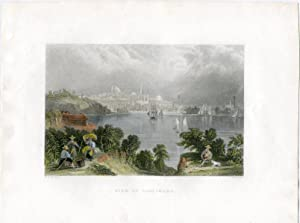 E.E.U.U. View of Baltimore, grabado por S. Fisher, dibujó W.H. Barlett, 1845