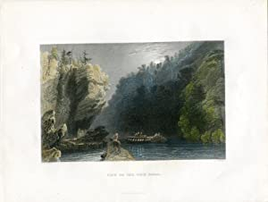 E.E.U.U. View on the Erie, Canal grabado por J.T.Willmore, 1840
