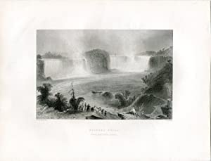 E.E.U.U.Niagara Falls (from near Clifton House) grabado por J.Cousen.
