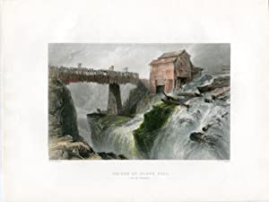 E.E.U.U. Bridge at Glens Fall (on the Hudson) grab. Por F.W.Topham.