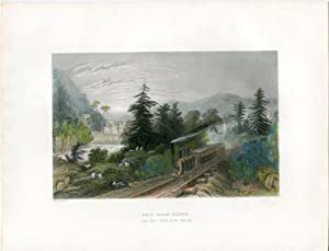 E.E.U.U. Rail-road Scene (Little Falls Valley of the Mohawk grab. W.H. Barlett