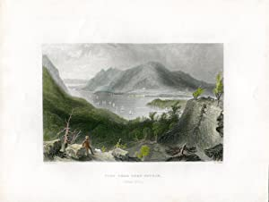 E.E.U.U. View from fort Putnam grabado por R. Sands, 1839