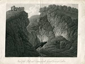 Inglaterra. View of the Peak and entrance to the Great Caver at Castleton, 1817