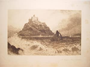 Francia. Cornwall. «St. Michael s Mount» Grabó David Law (Edimburgo, 1831-Worthing,1901)