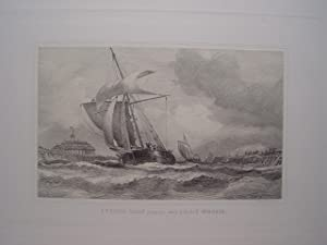 Francia. «French sloop coming into Calais Harbour» por Charles George Lewis (1808-1880)