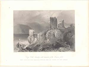Rumania. «Drey Kule Swinitza with remains of the roman fort» Dibujó W. H. Barlett (1809-1854).Gra...