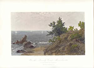 Estados Unidos. «On the Beverly Coast Massachussetts» De un cuadro de J.F. Kensett (1818-1872). G...