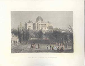 Estados Unidos. «View of theCapitol at Washington» Dibujó W.H. Barlett (1809-1854). Grabó Charles...