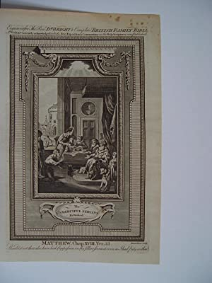 «Usmerciful servant» Complete British Family Bible. Engraved by the Rev. R. Wright.
