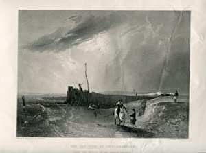 Inglaterra. Sussex. «The old pier at Littlehampton» gr. por J.Cousen obra A.W. Callcott