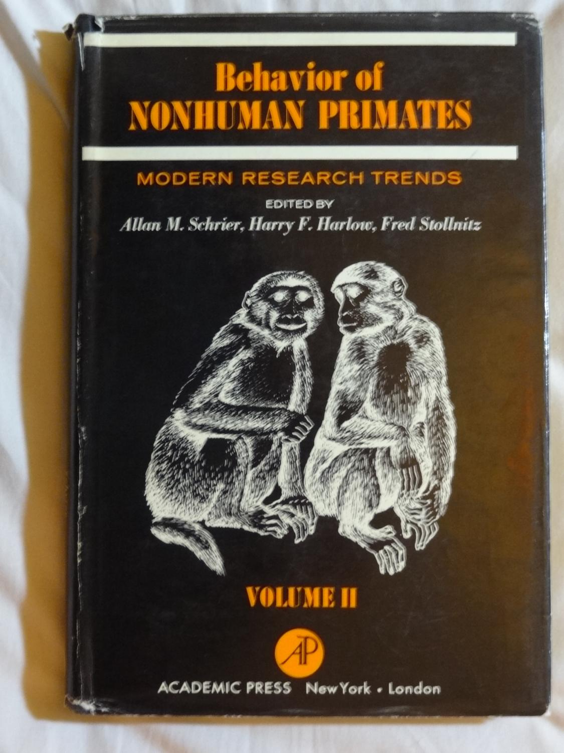 BEHAVIOR OF NONHUMAN PRIMATES Modern Research Trends Volume II