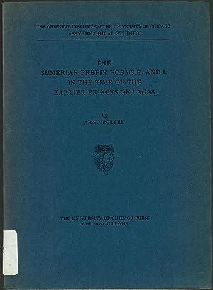 The Sumerian Prefix Forms E- and I-: Poebel, Arno