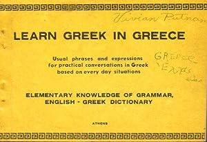 LEARN GREEK IN GREECE : Usual Phrases: Lystardo, Tino Byron