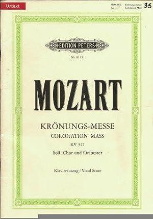 "Missa C-Dur KV 317 ""Krönungs-Messe"" / URTEXT: Mozart, Wolfgang Amadeus"