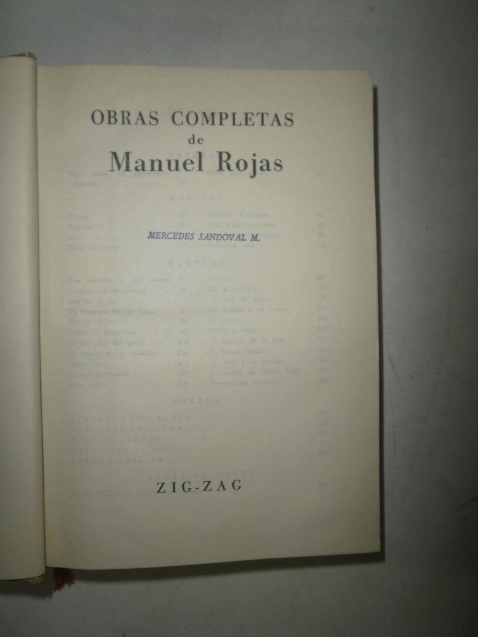 Obras completas de Manuel Rojas ROJAS, Manuel