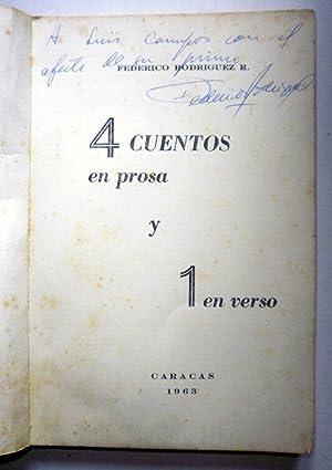 4 cuentos en prosa y 1 en verso: RODRIGUEZ, Federico