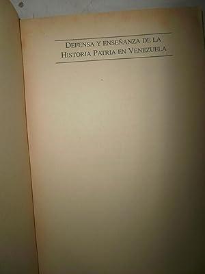 Defensa y enseñanza de la historia patria: BRICEÑO IRAGORRY, Mario;