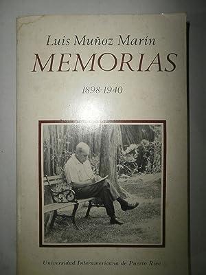 Memorias 1898 -1940. Autobiografía pública: MUÑOZ MARIN, Luis