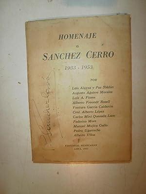 Homenaje a Sanchez Cerro 1933-1953: ALAYZA Y PAZ