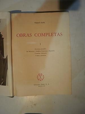 Obras completas de Manuel Azaña: AZAÑA, Manuel