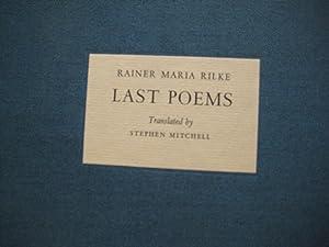 Rainer Maria Rilke: Last Poems: Stephen Mitchell (translator)