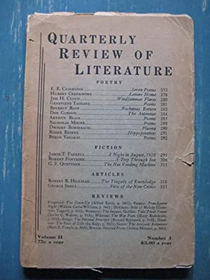 Quarterly Review of Literature: Volume 2, Number 4, 1945: Edited by T. Weiss