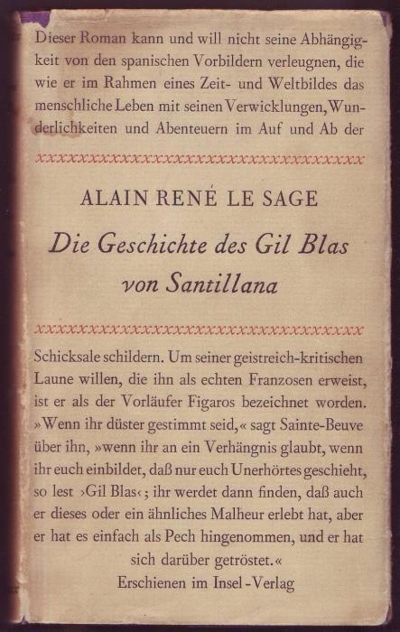 Die Geschichte des Gil Blas von Santillana: Le Sage, Alain